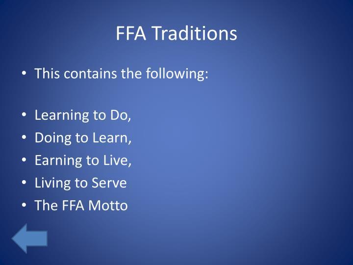 FFA Traditions