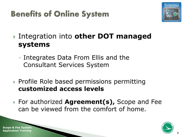 Benefits of Online System