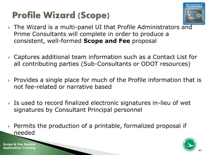 Profile Wizard (Scope)