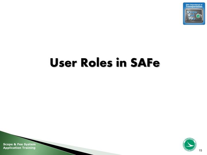 User Roles in SAFe