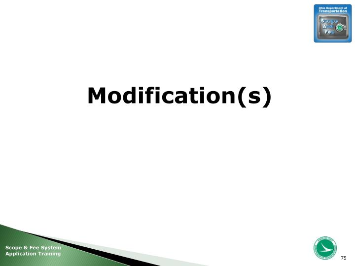Modification(s)