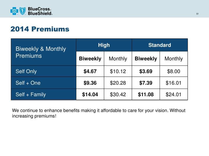 2014 Premiums
