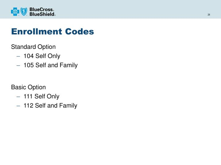 Enrollment Codes