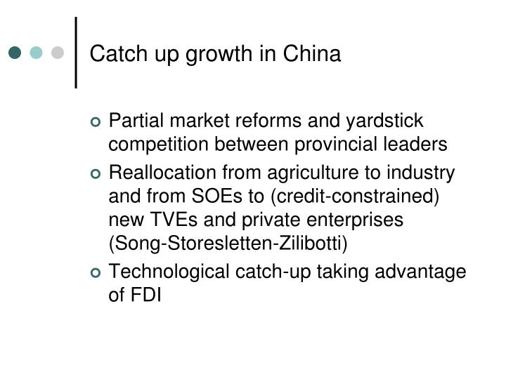 Catch up growth in China