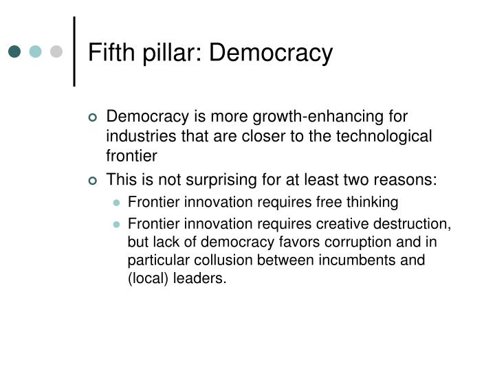 Fifth pillar: Democracy