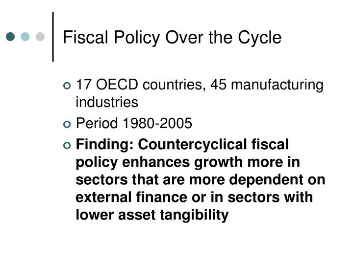 Fiscal Policy Over the Cycle