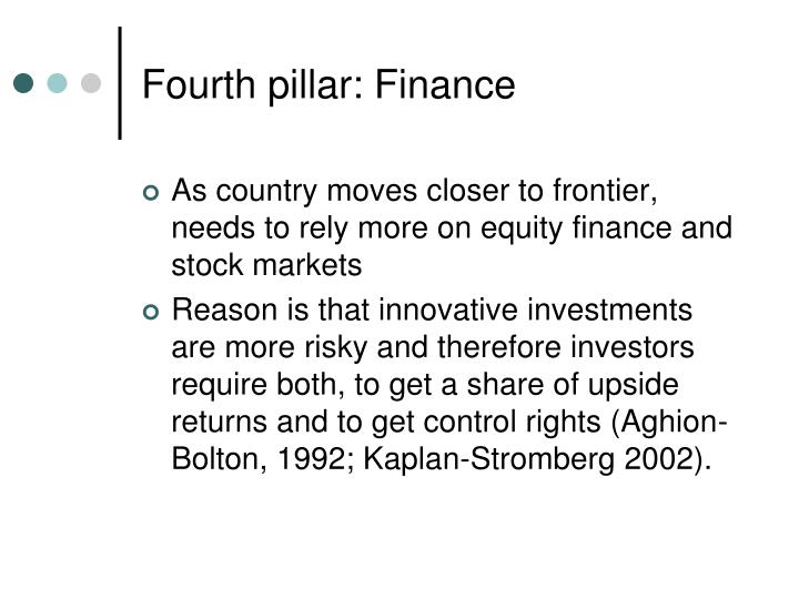 Fourth pillar: Finance