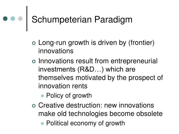 Schumpeterian Paradigm
