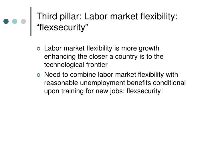 "Third pillar: Labor market flexibility: ""flexsecurity"""
