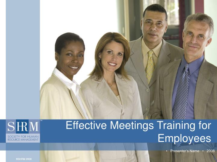 Effective meetings training for employees