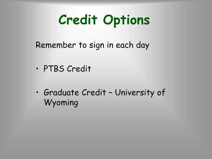 Credit Options