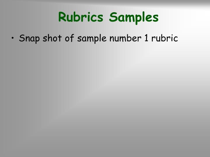 Rubrics Samples