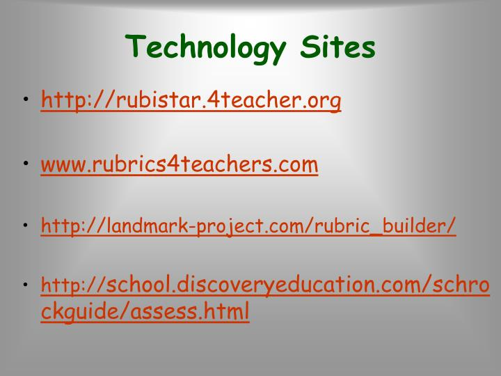 Technology Sites