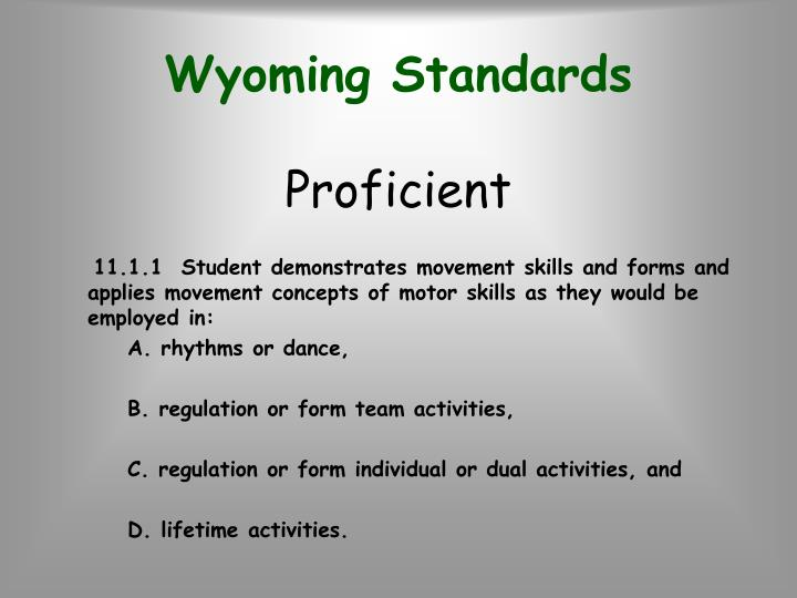 Wyoming Standards