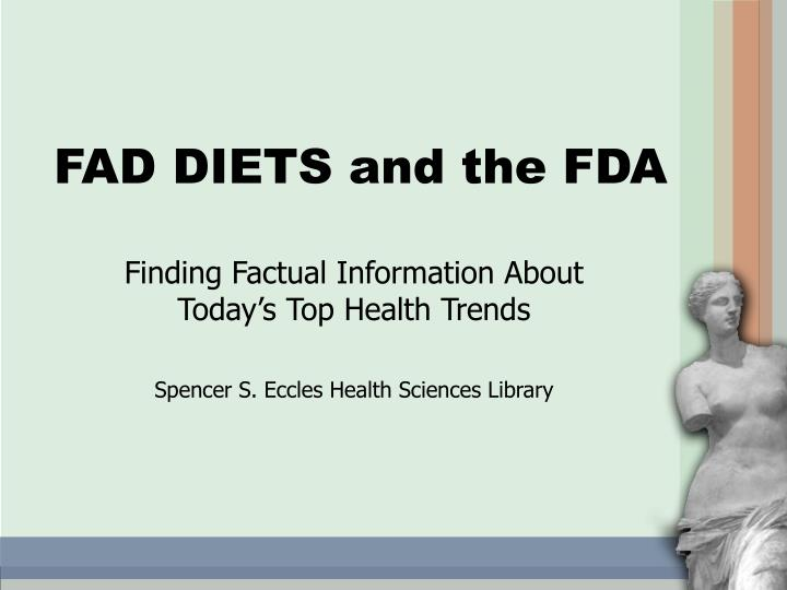 Fad diets and the fda