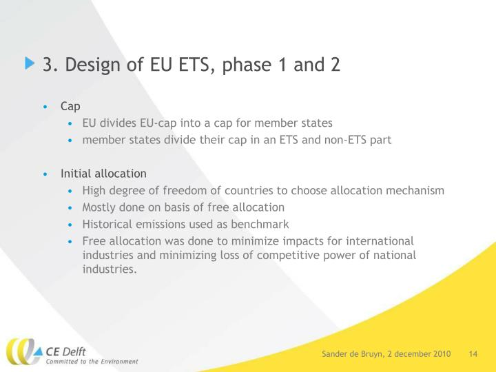 3. Design of EU ETS, phase 1 and 2