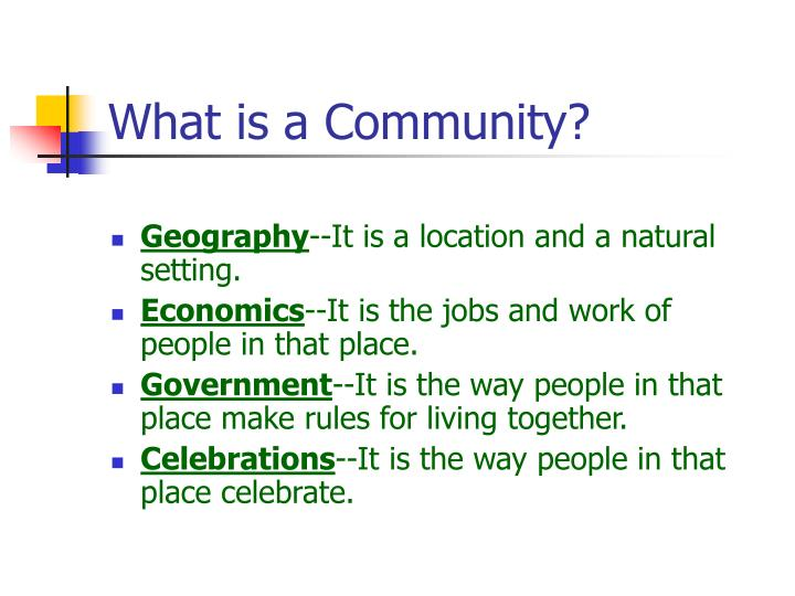What is a community