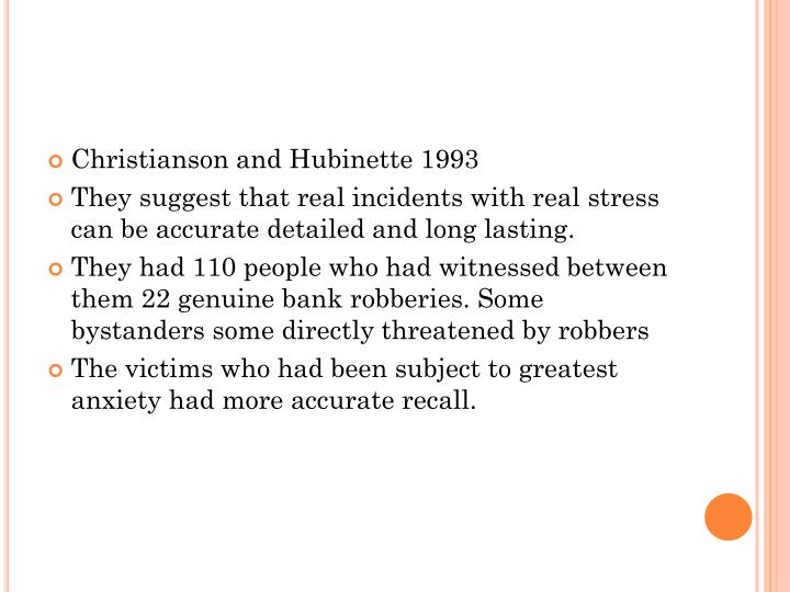 Christianson and Hubinette 1993
