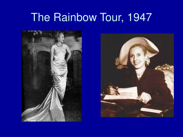 The Rainbow Tour, 1947