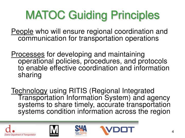 MATOC Guiding Principles