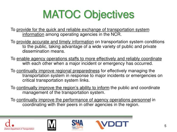MATOC Objectives