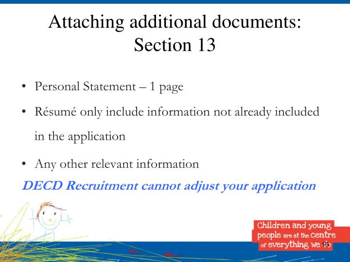 Attaching additional documents: