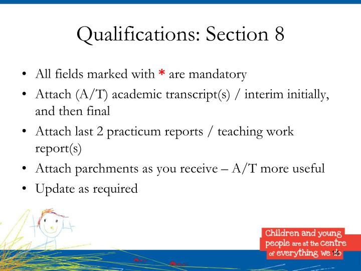 Qualifications: Section 8