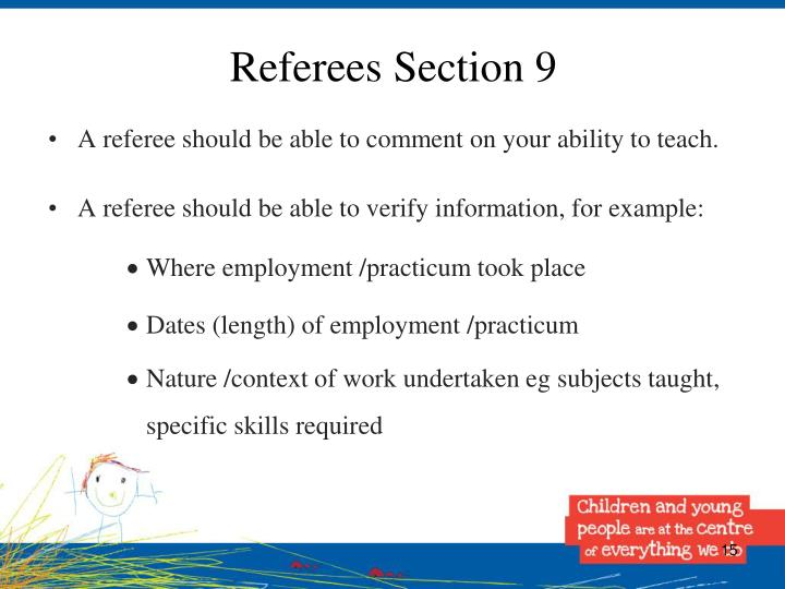 Referees Section 9