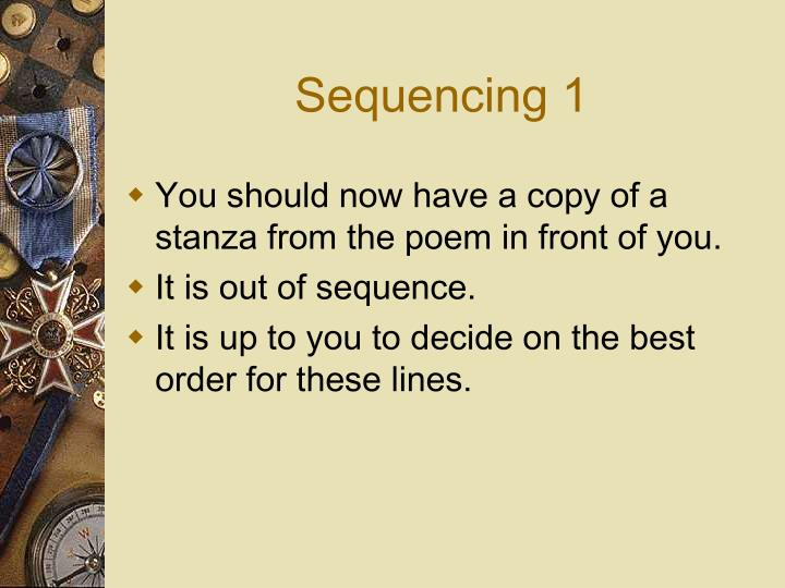 Sequencing 1