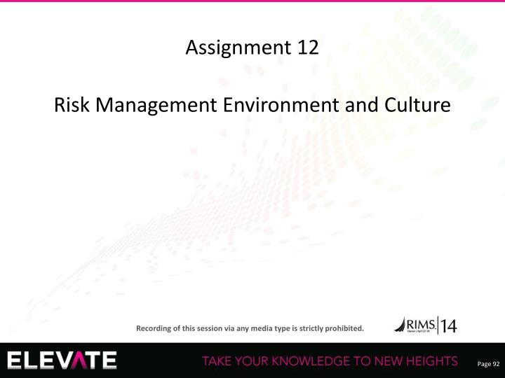 Assignment 12