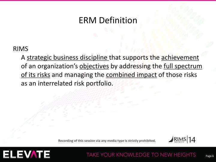 ERM Definition