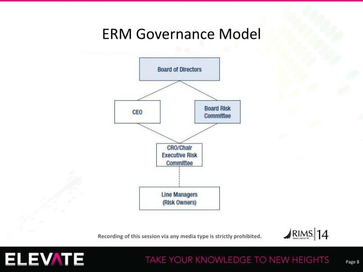 ERM Governance Model