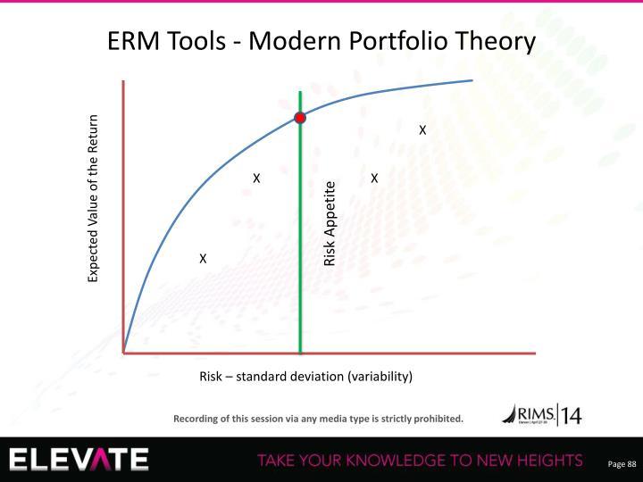 ERM Tools - Modern Portfolio Theory