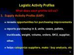 logistic activity profiles6