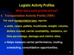 logistic activity profiles9