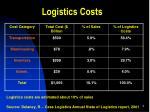 logistics costs