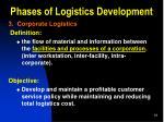 phases of logistics development5