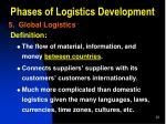 phases of logistics development9