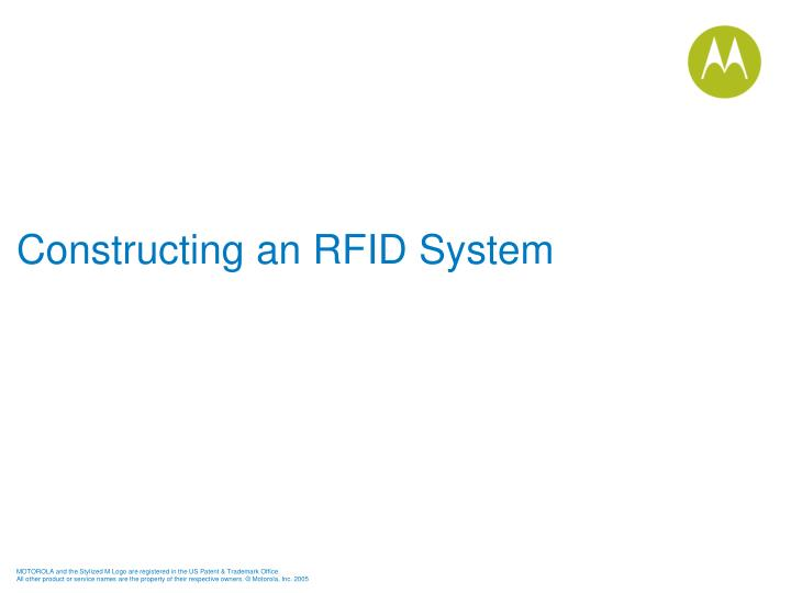 Constructing an RFID System