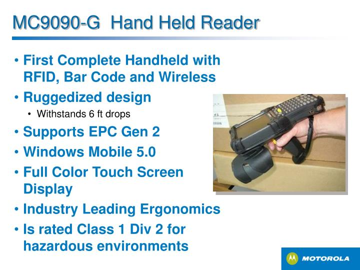First Complete Handheld with RFID, Bar Code and Wireless