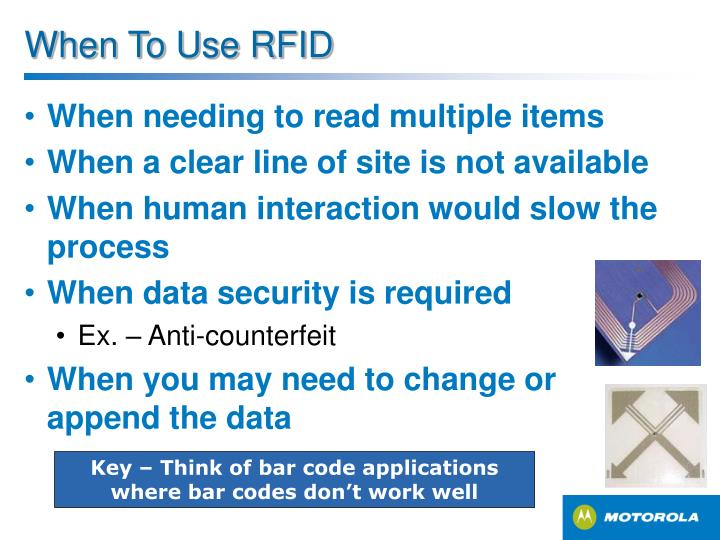 When To Use RFID