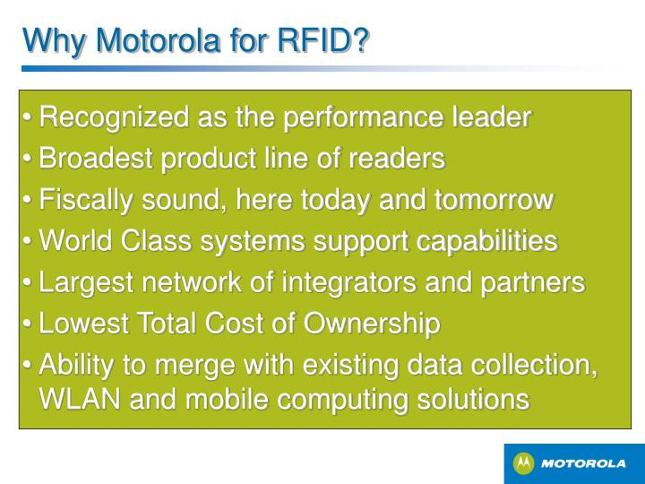 Why Motorola for RFID?