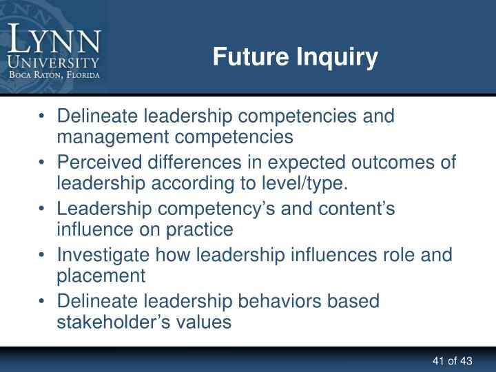 Future Inquiry