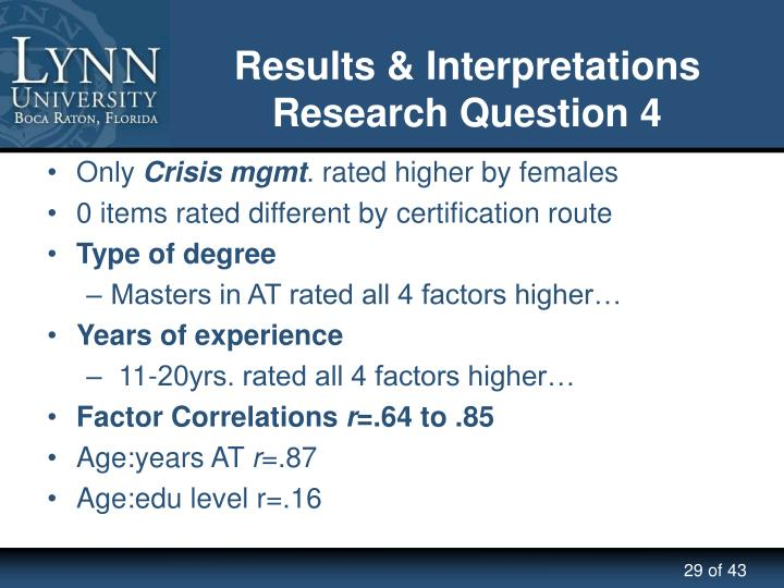 Results & Interpretations