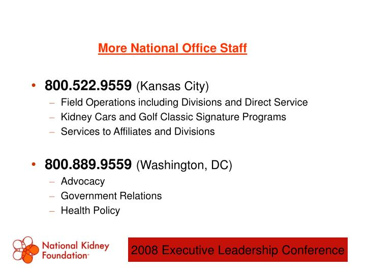 More National Office Staff