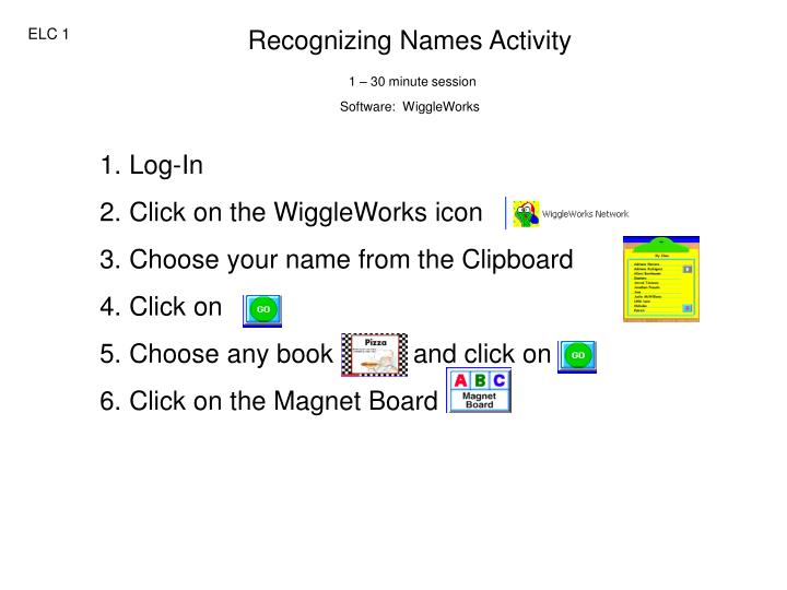 Recognizing Names Activity