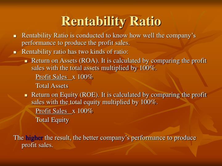 Rentability Ratio
