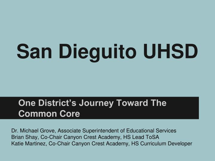 San dieguito uhsd