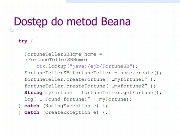 Dostęp do metod Beana