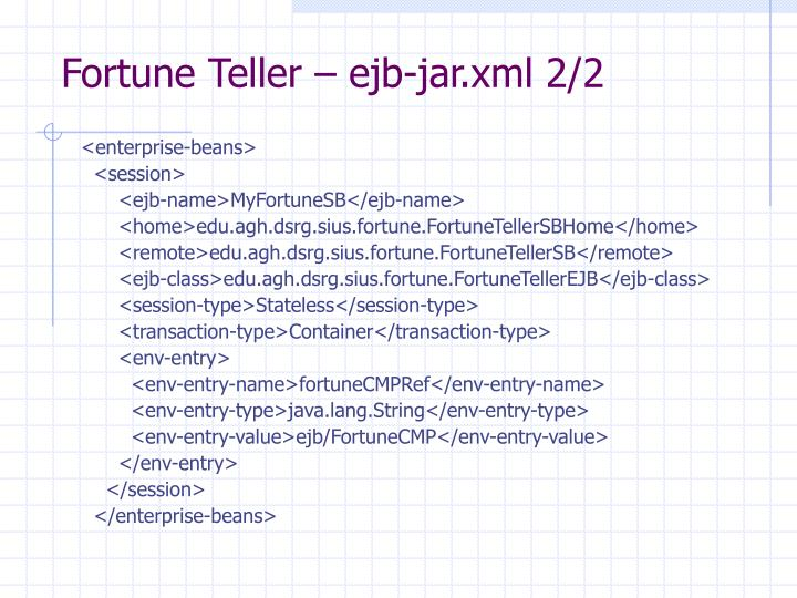 Fortune Teller – ejb-jar.xml 2/2